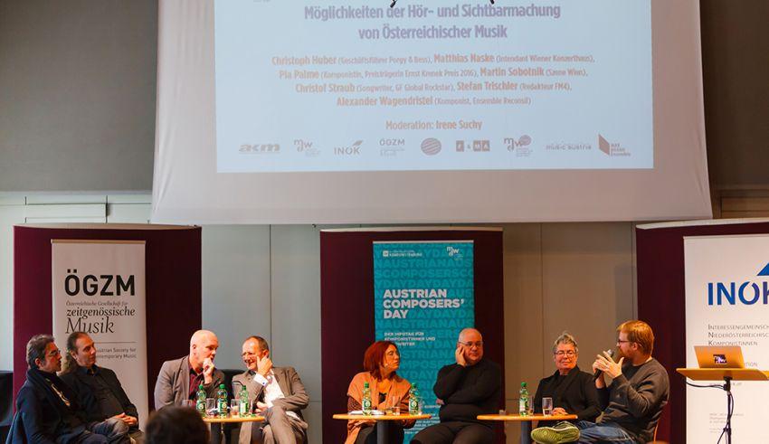 Panel I: Möglichkeiten der Hör- und Sichtbarmachung von Österreichischer Musik ©ÖKB / Markus Sepperer