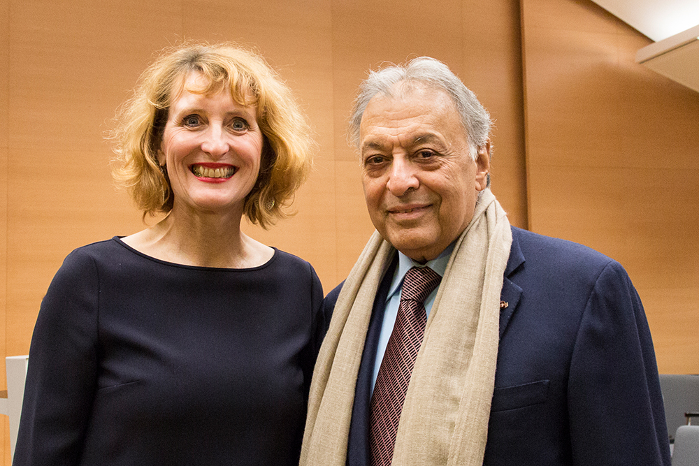 Ulrike Sych and Zubin Mehta