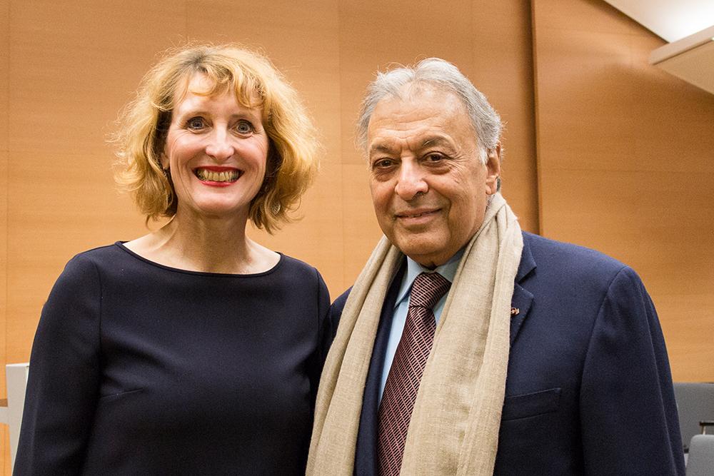 Ulrike Sych und Zubin Mehta