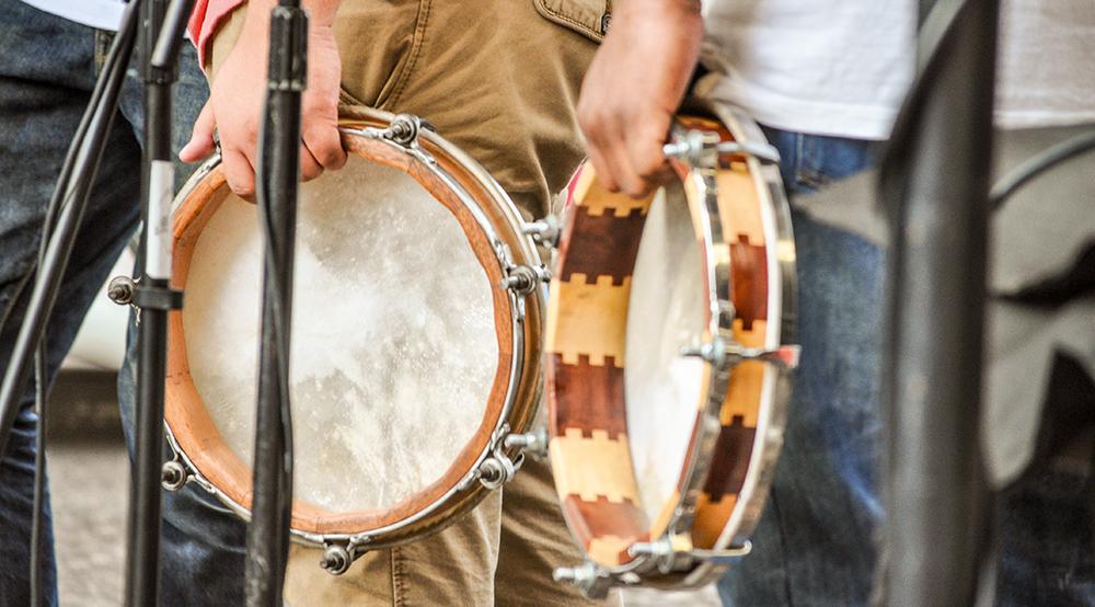 Pandereta-Trommeln