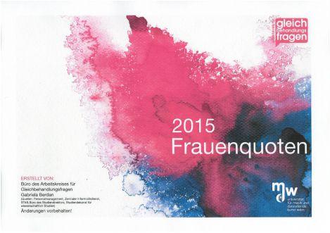Titelblatt der Frauenquoten 2015