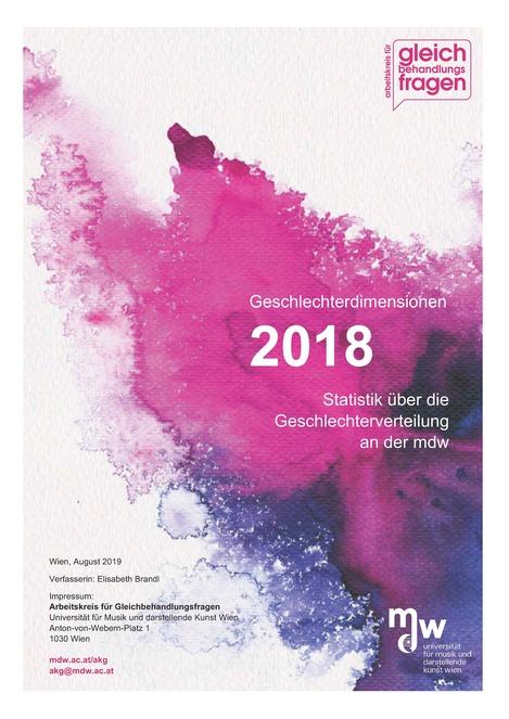 Titelblatt der Statistik 2018