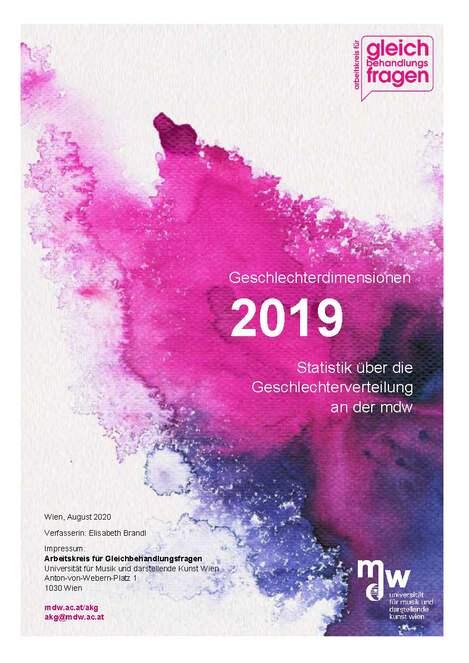Titelblatt der Statistik 2019