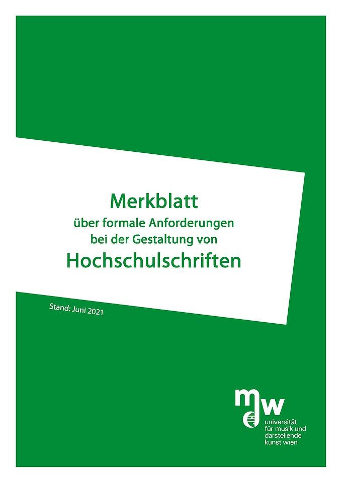 Merkblatt Titelblatt