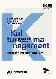 Cover der Infobroschüre mit den Schlagwörtern interdisziplinär, analytisch und praxisorientiert