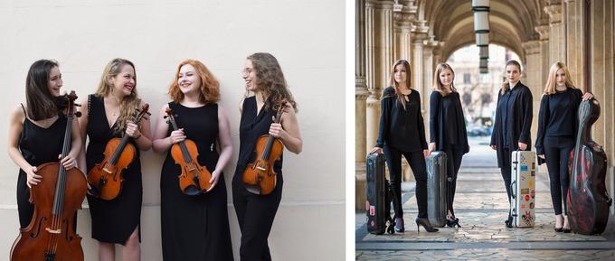 Mitglieder des Selini Quartetts und des Echea Quartetts