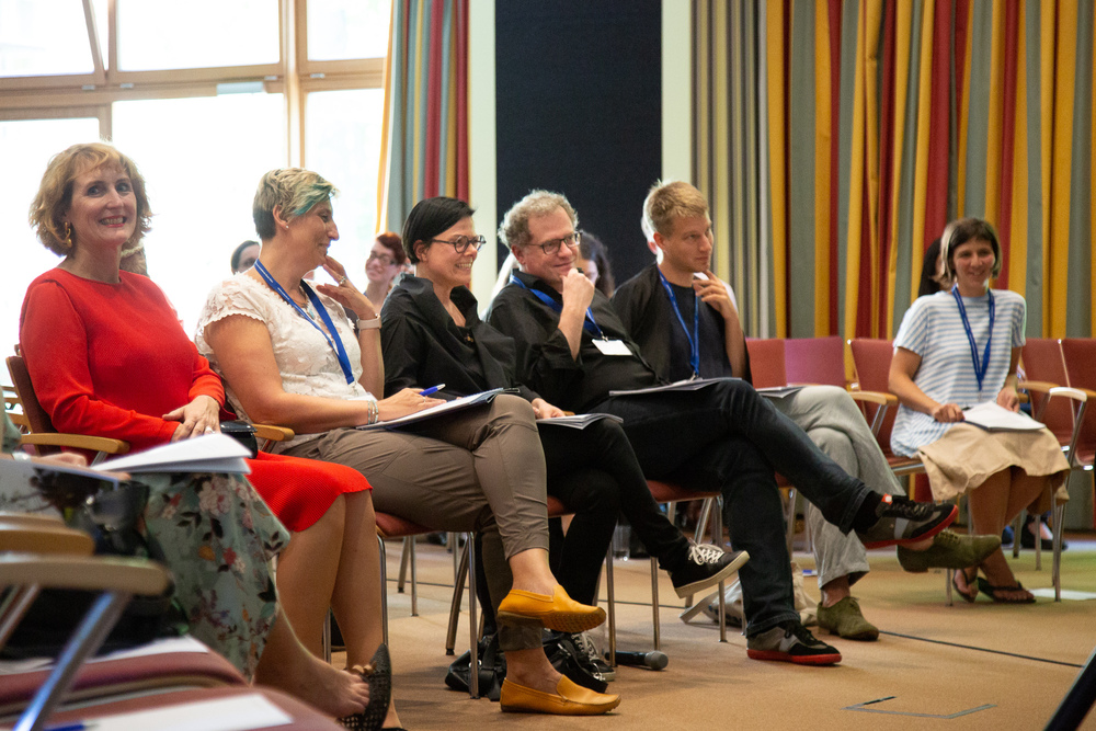 Rektorin Ulrike Sych mit Leitungsteam und Koordinatorin der isaScience während der Eröffnung der Konferenz 2018.
