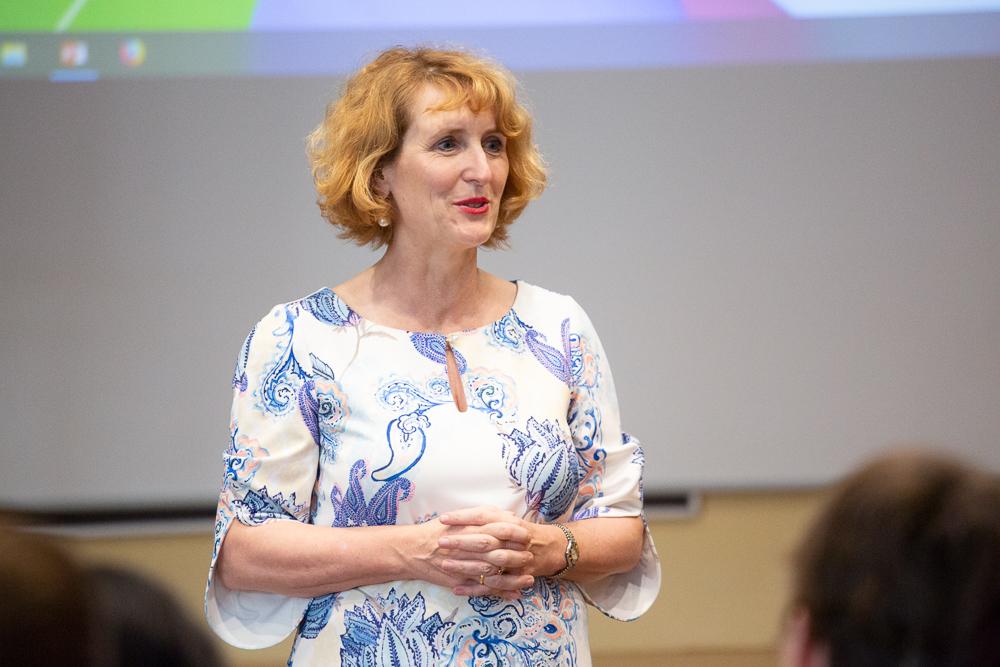 Rektorin Ulrike Sych eröffnet die isaScience Konferenz 2019.