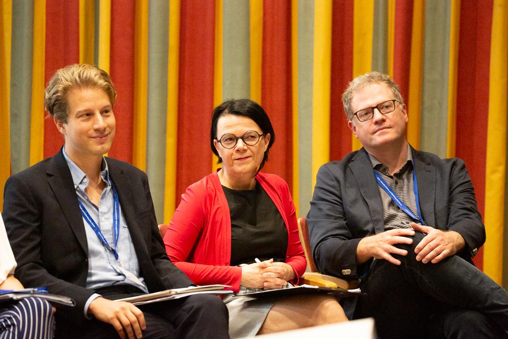 Drei Mitglieder des isaScience-Leitungsteams, Marko Kölbl, Rosa Reitsamer, Fritz Trümpi (von links nach rechts).