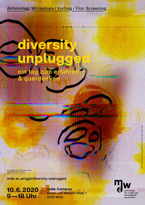 Plakat zu diversity unplugged. ein tag zum erfahren & querdenken