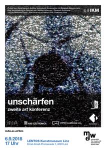 Plakat: unschärfen - zweite art konferenz 2018