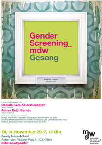 Plakat: Gender Screening_mdw - Gesang 2017