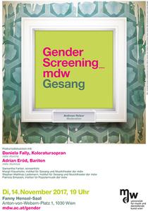 Plakat: Gender Screening_mdw - Gesang 2017