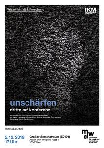 Plakat der Veranstaltung: unschärfen. eine art konferenz