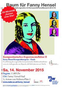 Plakat: Raum für Fanny Hensel - Kompositorisches Experimentallabor 2 2016