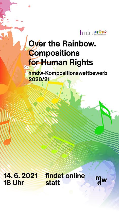 Werbebanner zum Konzert: Over the Rainbow. Compositions for Human Rights