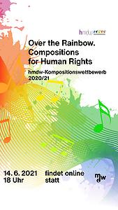 Plakat zum Finalkonzert des Kompositionswettbewerbs