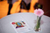 Foto von dem Flyer mit Blume