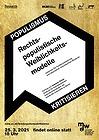 Ankündigungsplakat: Populismus kritisieren Online-Vortrag am 20.5.2021