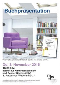 Plakat: Buchpräsentation am IKM 2016