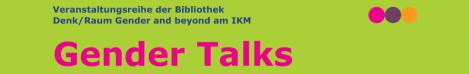 Header: Veranstaltungsreihe Gender Talks