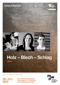 Plakat: Holz - Blech - Schlag 2019