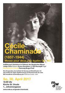 Plakat: Cécile Chaminade (1857-1944) 2017