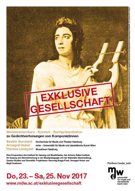 Plakat: Exklusive Gesellschaft 2017