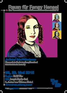 """Plakat: Raum für Fanny Hensel - """"Im Freien"""" & im Wohnzimmer 2015"""