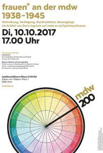 Jubiläumsplakat: frauen* an der mdw 1938-1945 (2017)