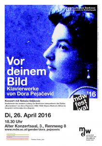 Plakat: Vor deinem Bild - Klavierstücke von Dora Pejacevic 2016