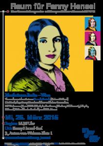 Plakat: Raum für Fanny Hensel - Musikräume in Berlin-Wien 2015