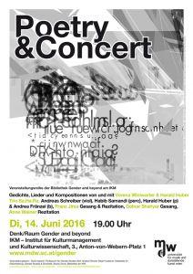 Plakat: Poetry & Concert 2016