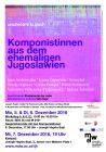 Plakat: ungehörte klänge - Komponistinnen aus dem ehemaligen Jugoslawien 2016