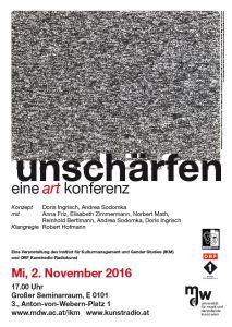 Plakat: unschärfen - eine art konferenz 2016