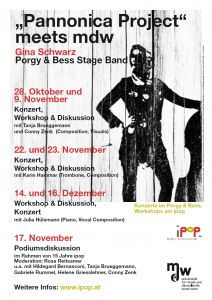 "Plakat: ""Pannonica Projekt"" meets mdw - Gina Schwarz Porgy & Bess Stage Band 2018"