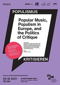Plakat zu Populismus kritisieren Oktober 2021