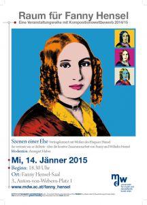 Plakat: Raum für Fanny Hensel - Szenen einer Ehe 2015