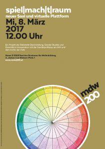 Jubiläumsplakat: spielmachtraum - neuer Saal und virtuelle Plattform 2017
