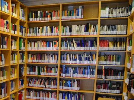 Bücherregal der IMP-Bibliothek