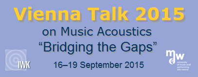 Vienna Talk on Music Acoustics 2015