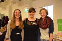 Janine G, Friederike K. und Ronja G., Organisatorinnen des ConnAction II und Gründungs-Team der CMTS
