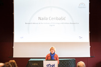 Naila Ceribašić at the lectern