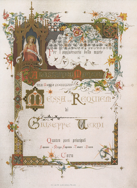Verdi-Requiem Titelblatt