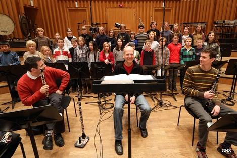 CD-Aufnahmen 2009 -  Kinderchor  und Sprecher im großen Sendesaal des ORF Wien