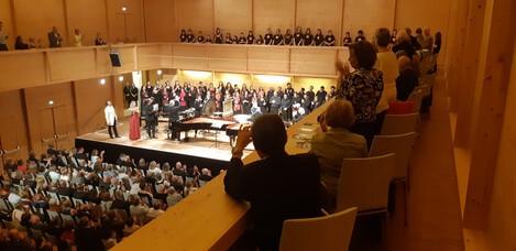 Lisztfestival Raiding 2018 - Carmina Burana gemeinsam mit dem Wiener Kammerchor. Ansicht des großen Konzertsaales im Lisztzentrum Raiding während des Konzertes