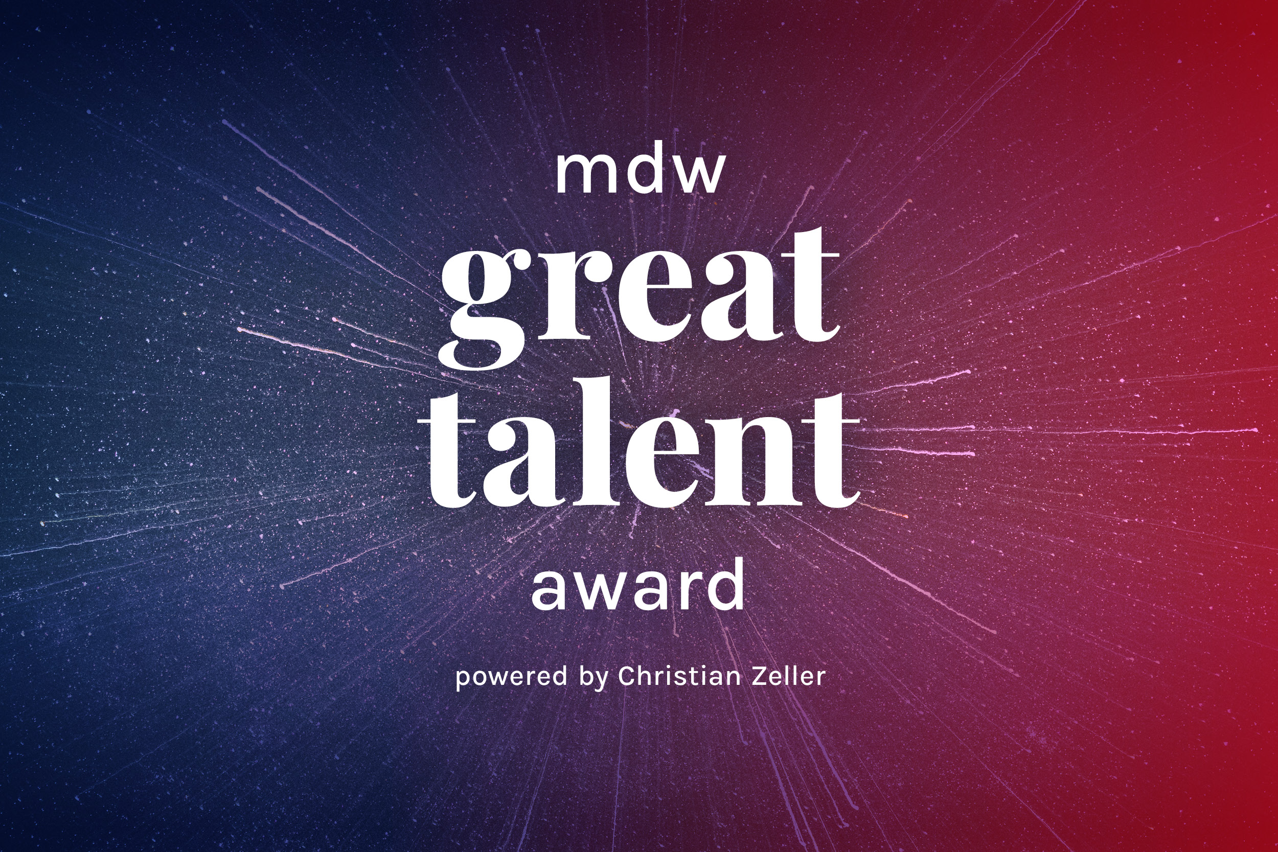 mdw great talent award