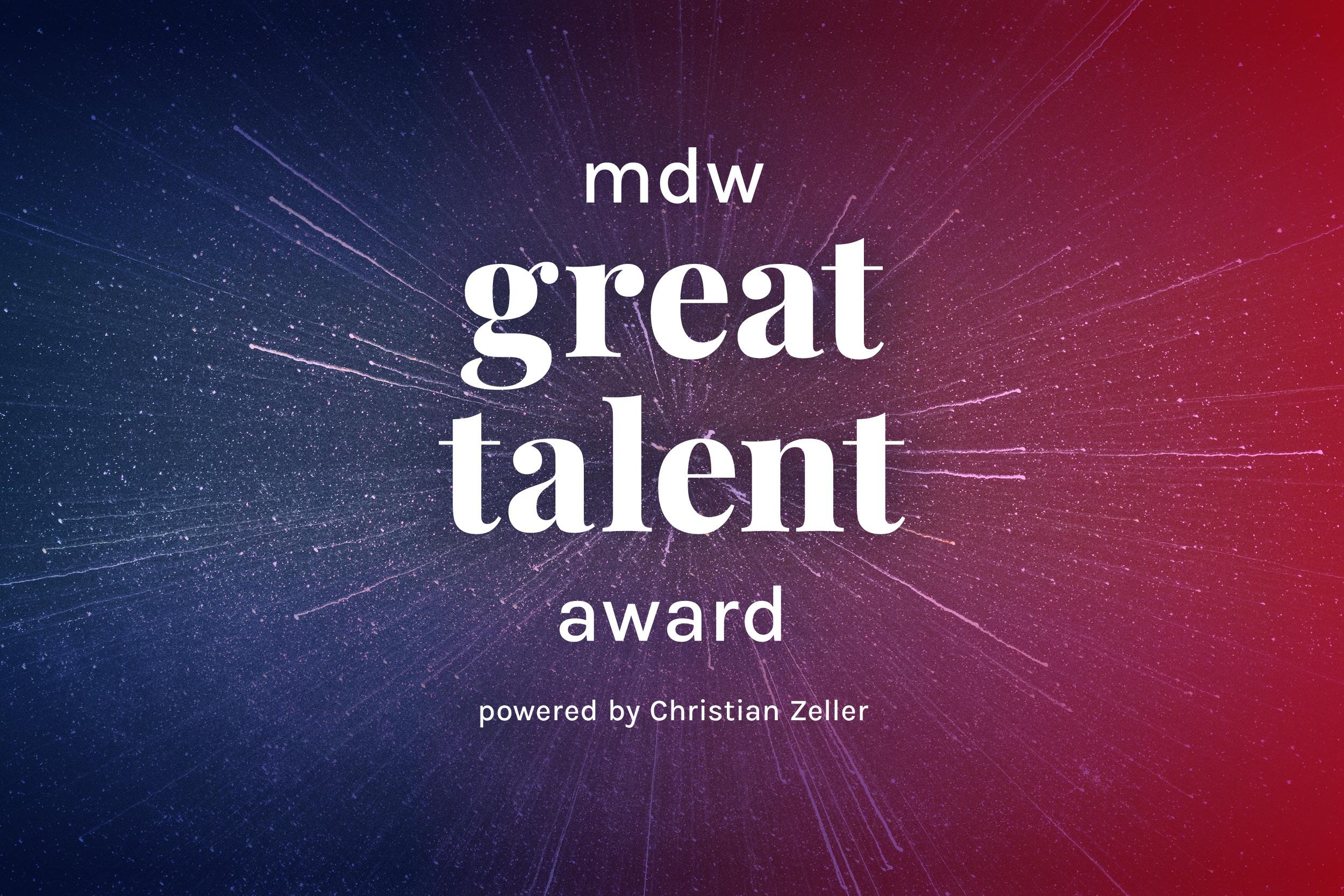 mdw great talent award
