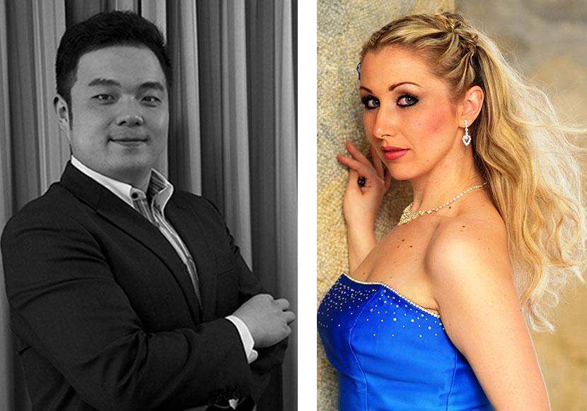Brigitta Simon und Jinxu Xiahou