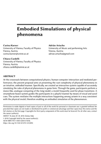 Embodied simulations of physical phenomena